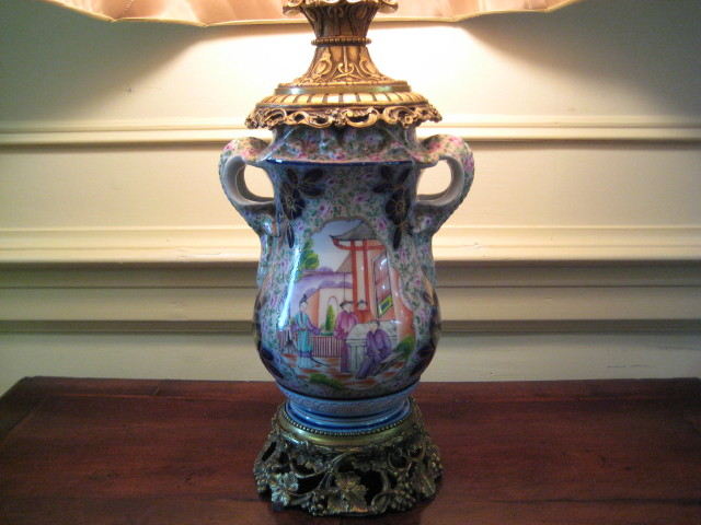 English Porcelain Lamp