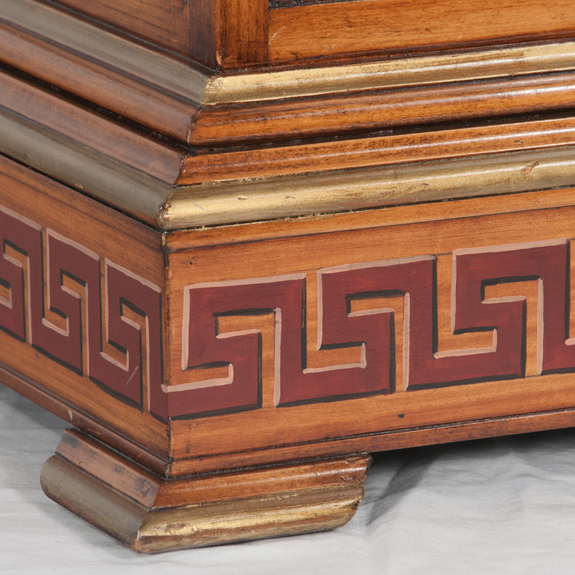 Georgian Style Walnut Tantalus Set
