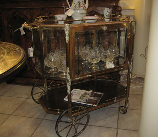 French Brass Tea Cart