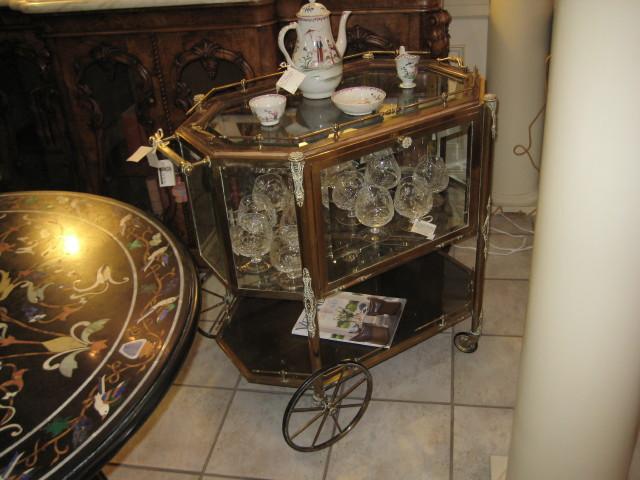 French Brass Tea Cart