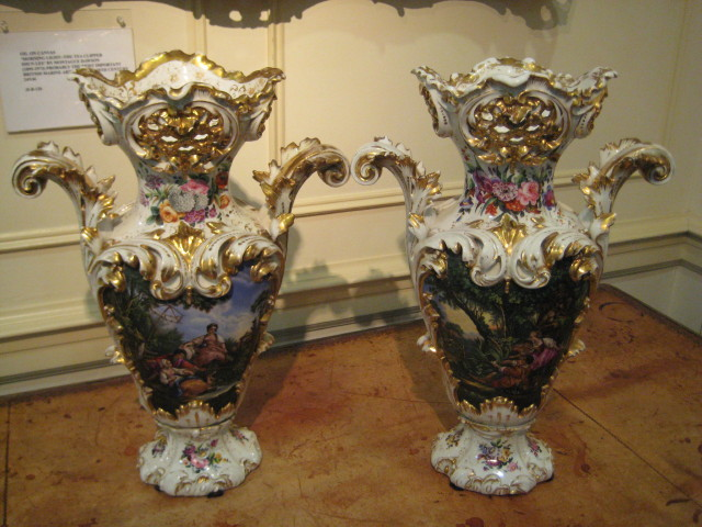 Old Paris Porcelain Vases