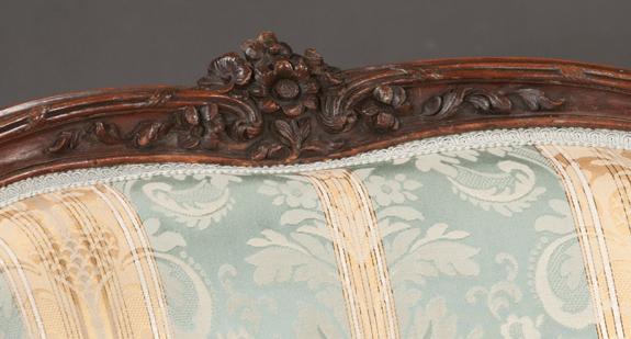 Louis XV Style 3 Piece Oak Chaise Lounge