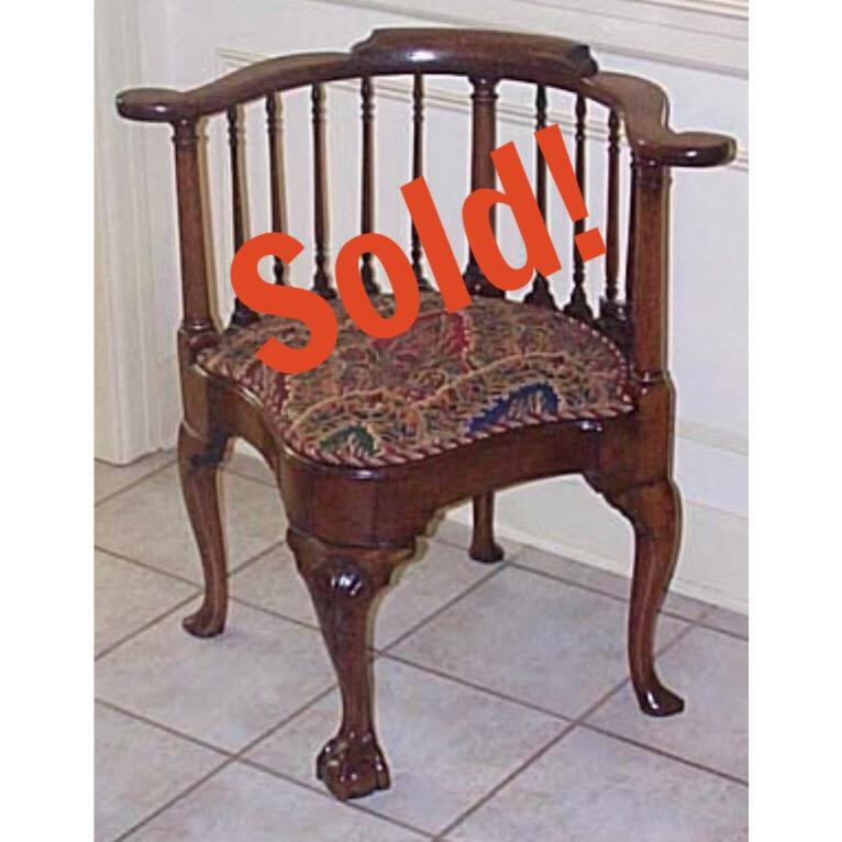 A George II Mahogany Corner Chair