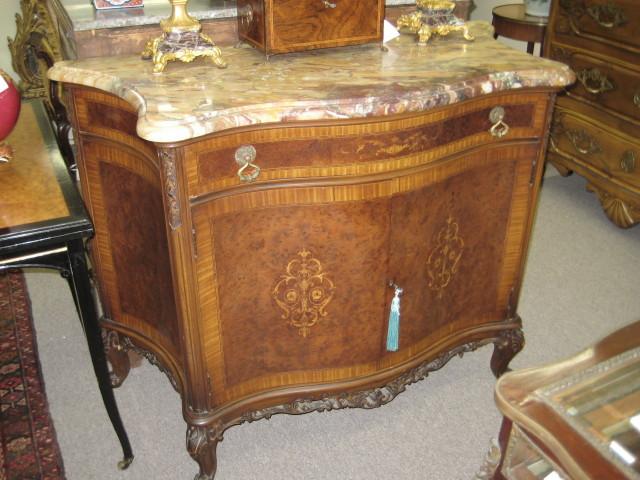 Breccia Marble Top Cabinet