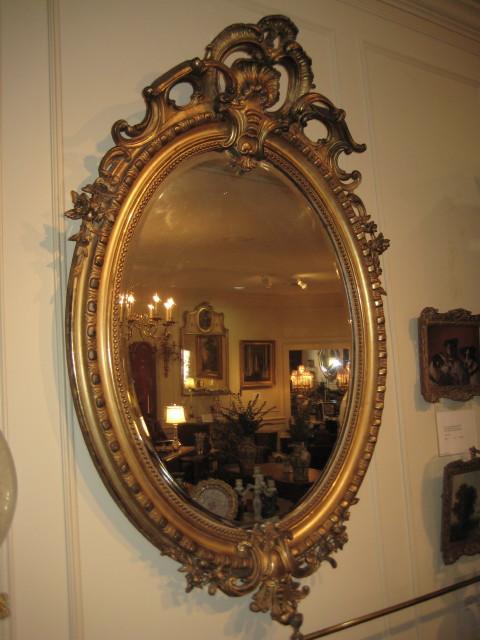 Louis XVI Style Gold Gilt Mirror