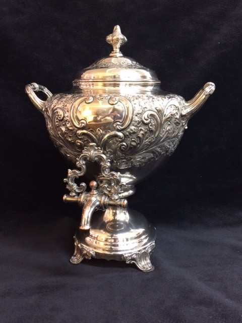 English Silver Plated Tea Urn