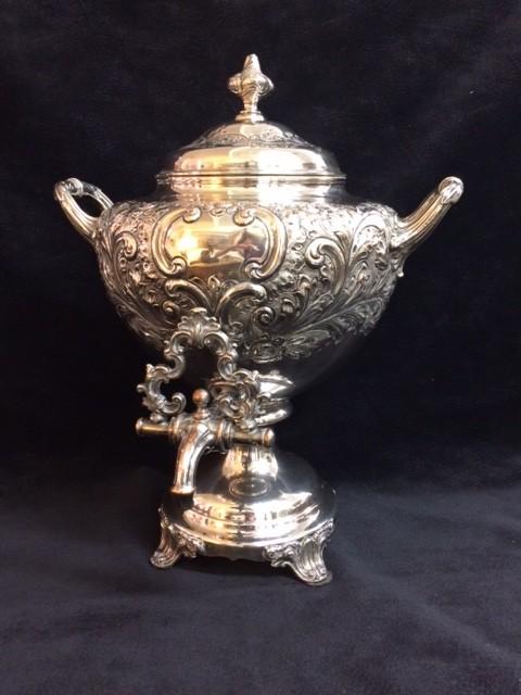 English Silver Plated Tea Urn