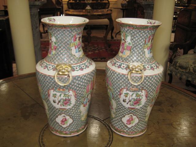 Chinese Mandarin Vases