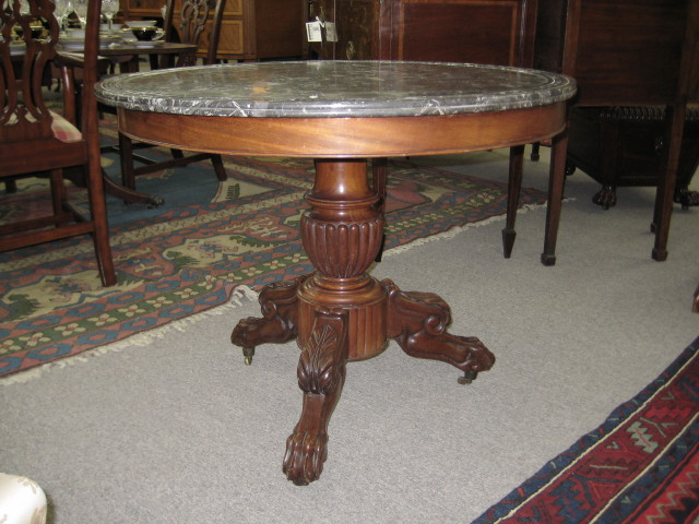 Marble Top Salon Table