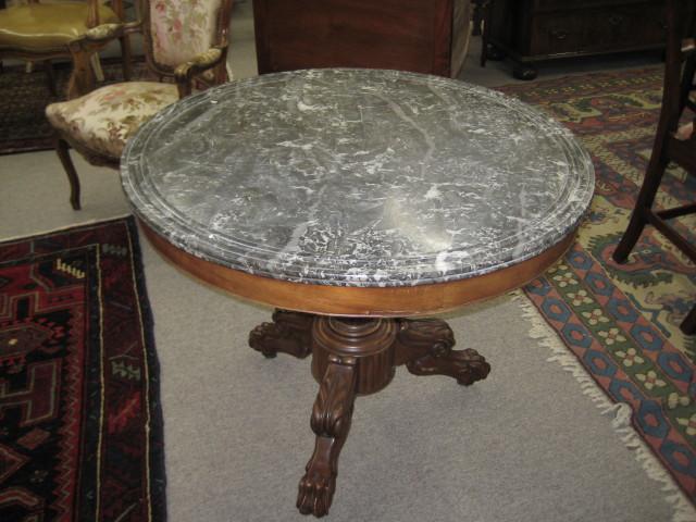 Marble Top Salon Table
