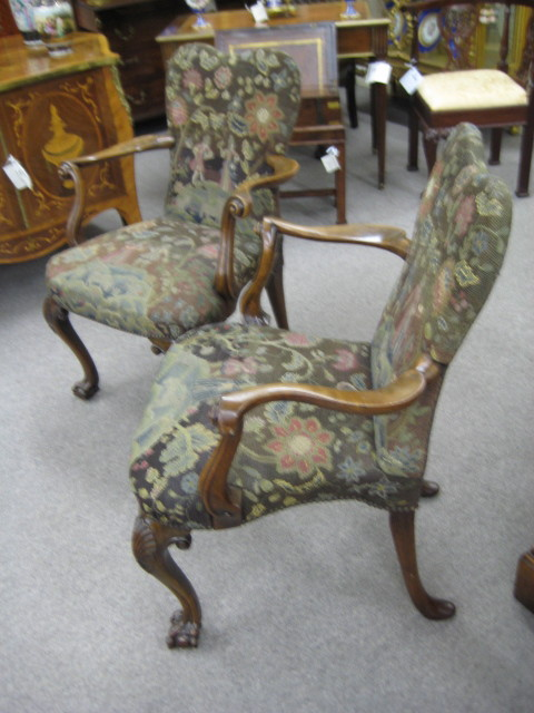 Pair Of Georgian Walnut Chairs