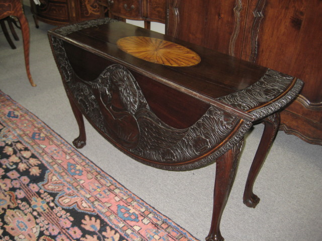 Irish Chippendale Style Drop Leaf Table