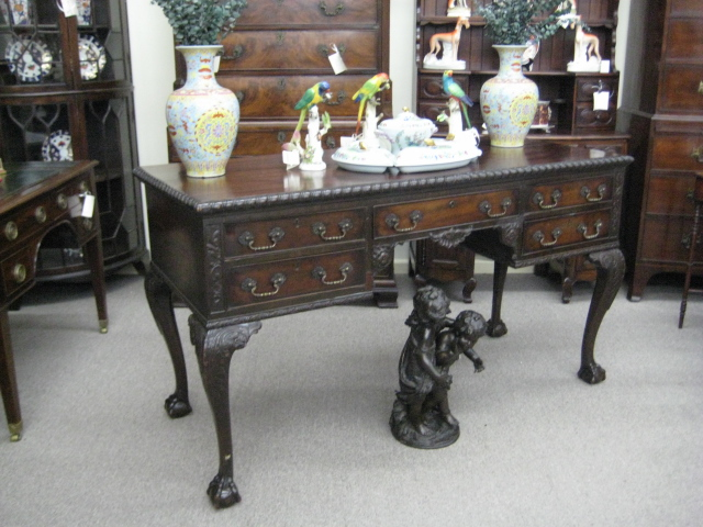 Irish Chippendale Style Mahogany Serving Table