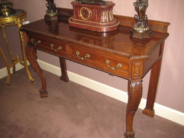 Irish Chippendale Style Console Table