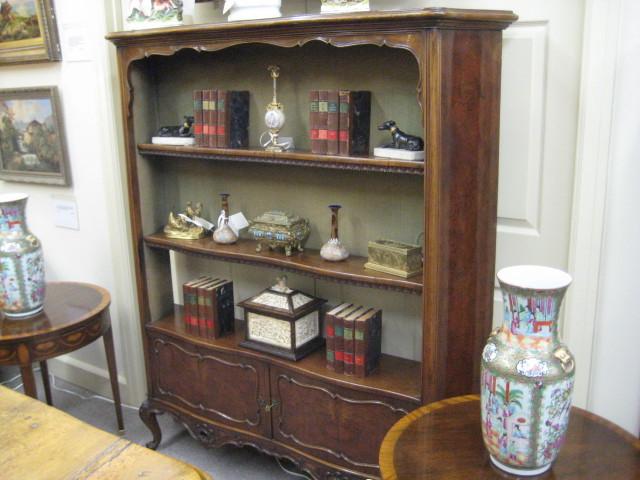 Walnut Open Bookcase Cabinet