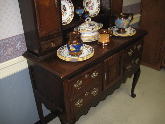 Queen Anne Style Oak Welsh Dresser