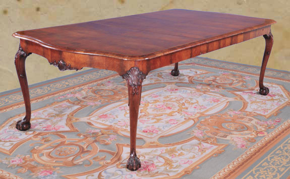 Chippendale Style Walnut Dining Table