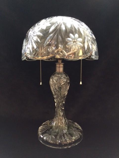 American Brilliant Cut Glass Lamp