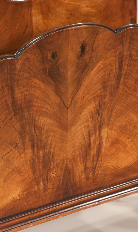 Queen Anne Style Walnut 2-Section Canterbury