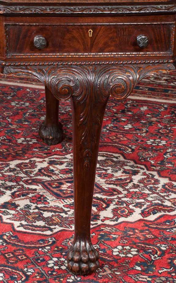 Octagonal Shape Irish Chippendale Style Table
