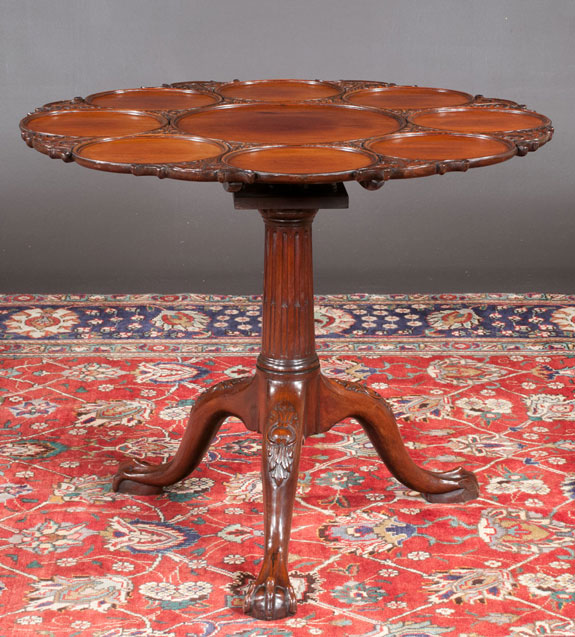Chippendale Style Mahogany Supper Table