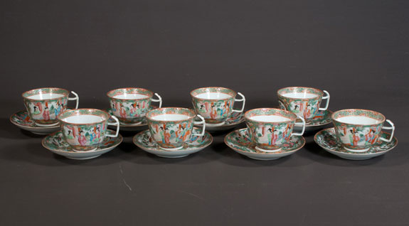 Chinese Rose Medallion Tea Set