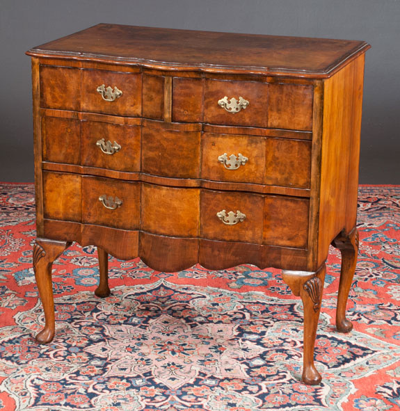 Queen Anne Style Walnut Commode