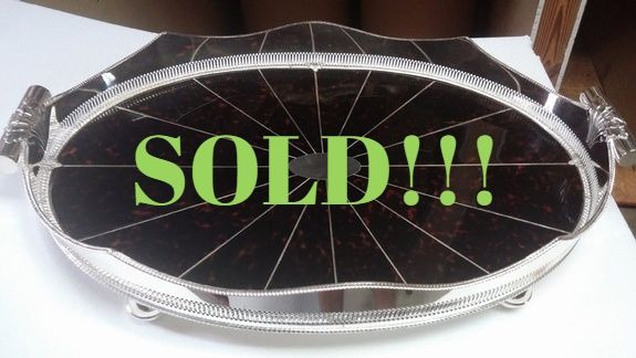 Silver Plated Oval Tray  (SOLD)