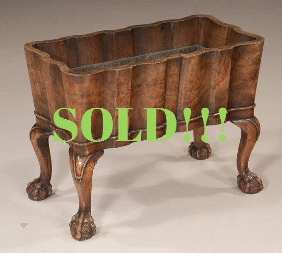Chippendale Style Walnut Planter  (SOLD)