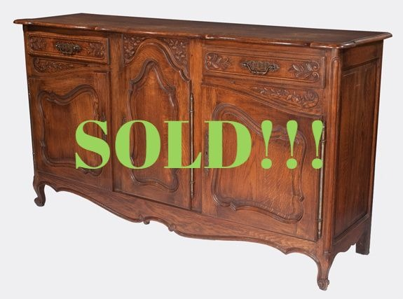 Country French Oak Buffet Cabinet  (SOLD)