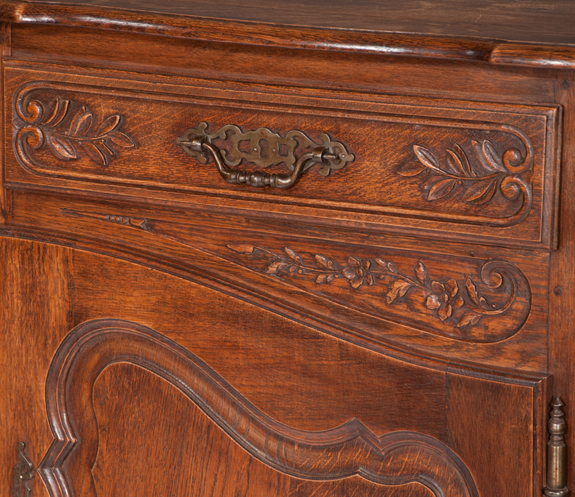 Country French Oak Buffet Cabinet