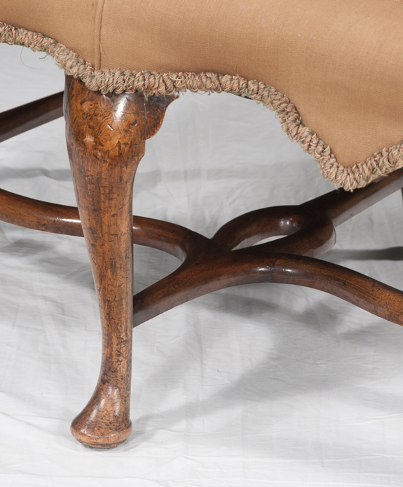 Queen Anne Walnut Settee