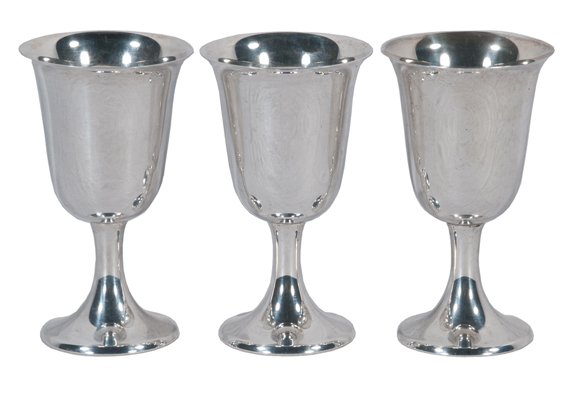 Set of 12 Gorham Sterling Silver Cordials