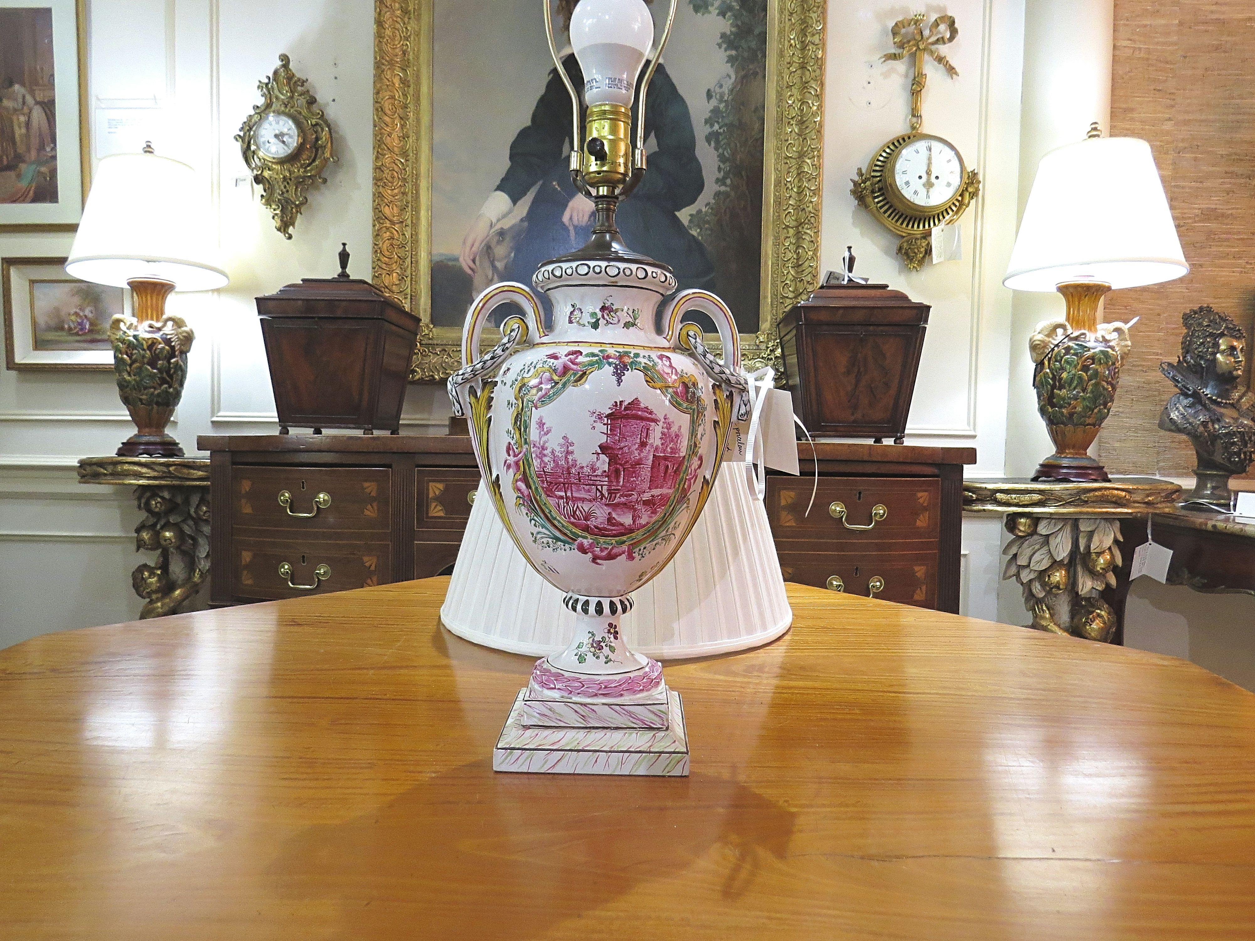 Urn Shaped Porcelain Lamp