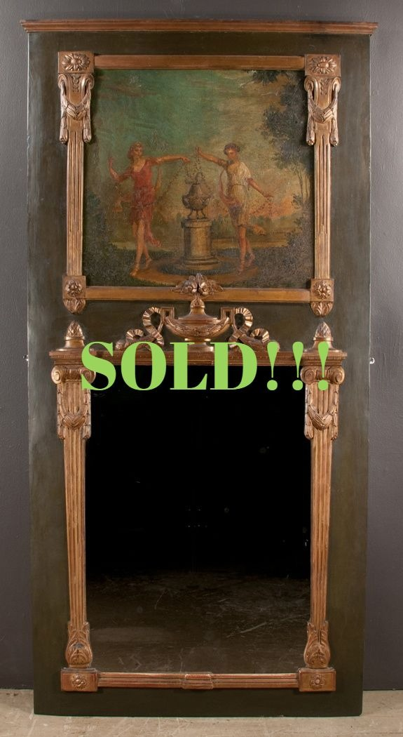 Louis XVI Painted and Gold Gilt Trumeau  (SOLD)