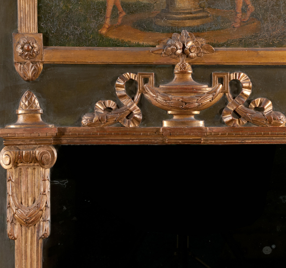 Louis XVI Painted and Gold Gilt Trumeau