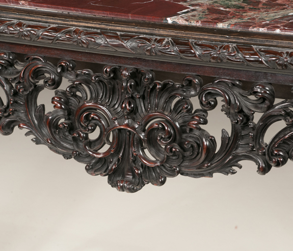 Chinese Chippendale Style Mahogany Console Table