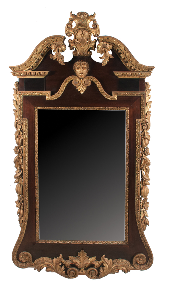 Chippendale Style Mahogany and Gold Gilt Mirror (SOLD)