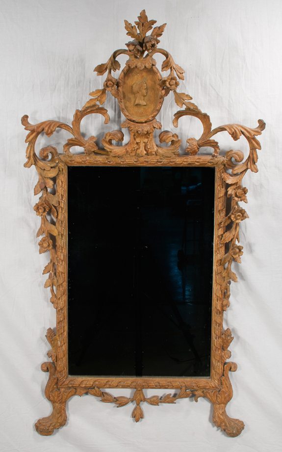 Italian Gold Gilt Carved Mirror