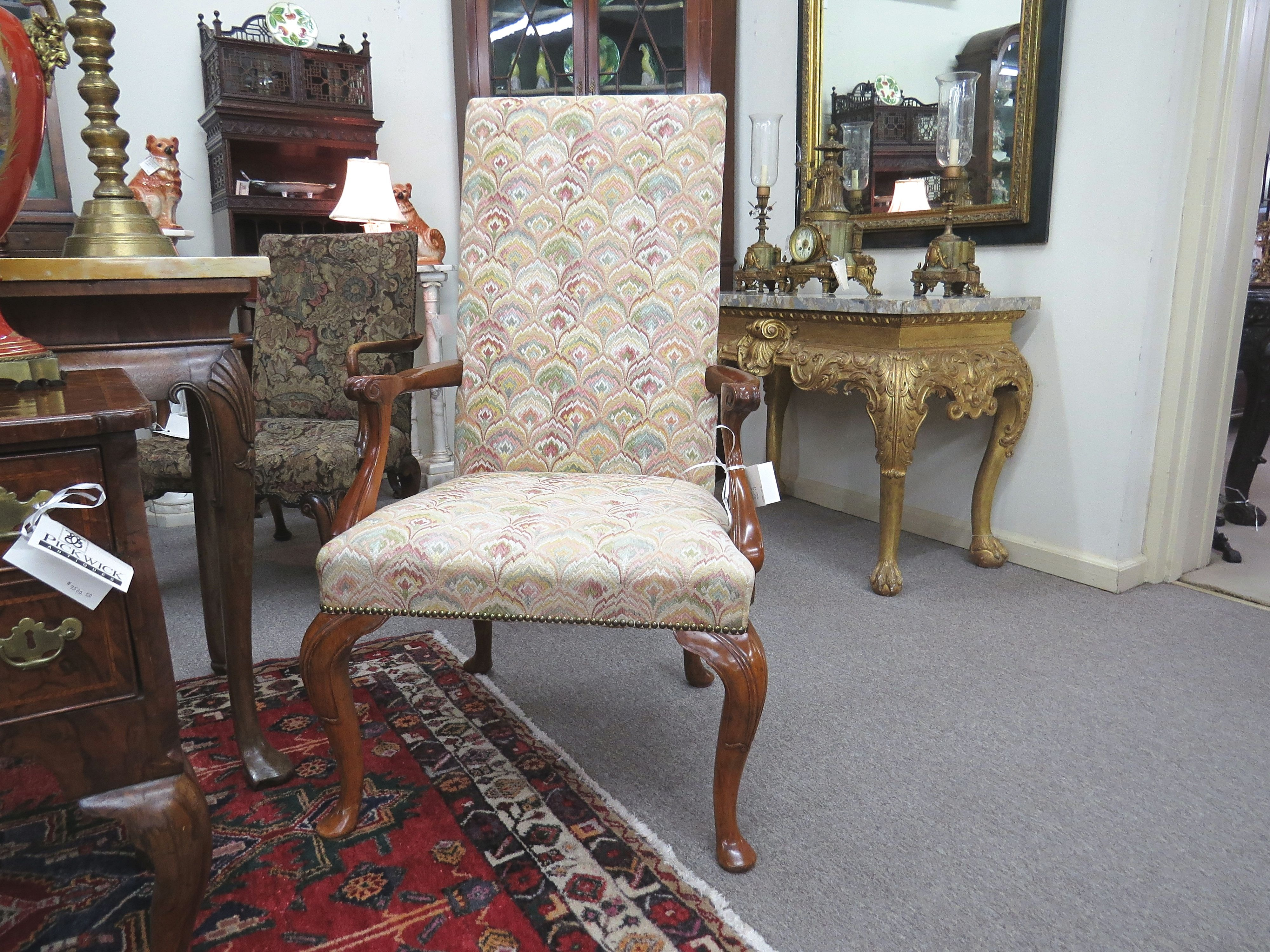 Queen Anne Style Mahogany Armchair