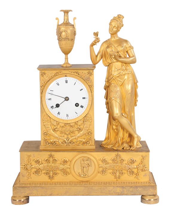 Louis XVI Bronze Ormolu Mantle Clock