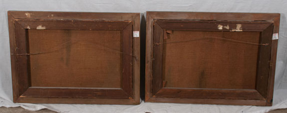 Pair of 19th Century Venetian Oil Paintings on Canvas