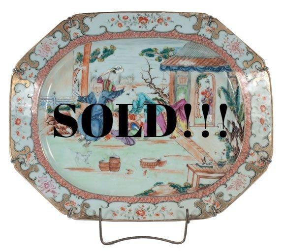 Chinese Export Mandarin Platter, c. 1780  (SOLD)