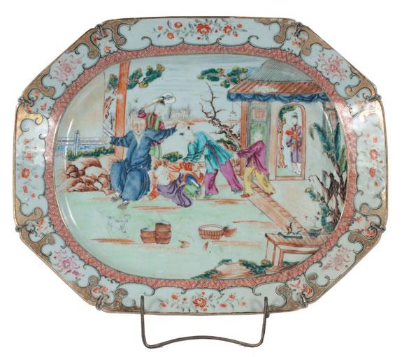 Chinese Export Mandarin Platter, c. 1780