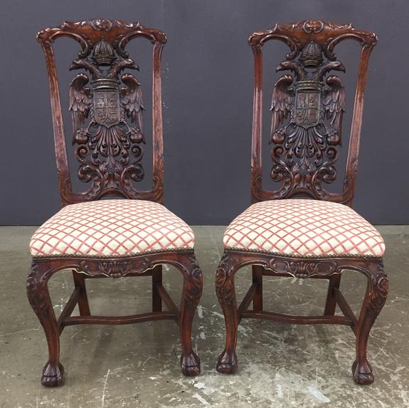 Pair of Mid-19th Century Georgian Walnut Side Chairs