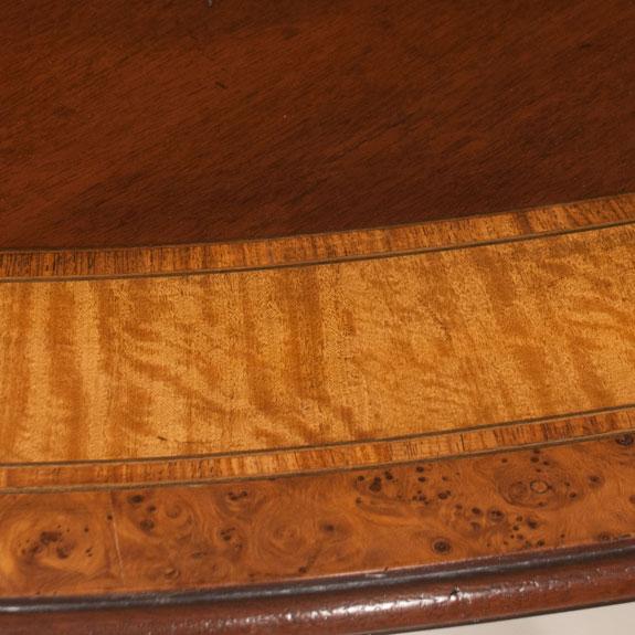 Oval Sheraton Style Mahogany Dining Table