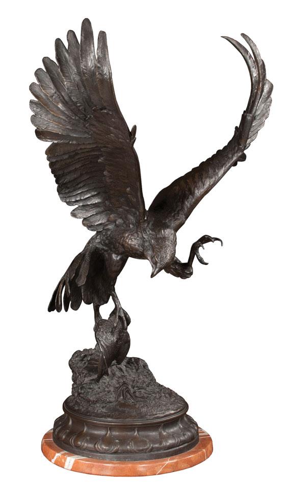 Bronze Sculpture of a Falcon