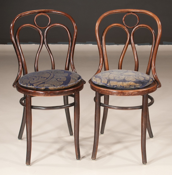Set of 12 English Bentwood Side Chairs