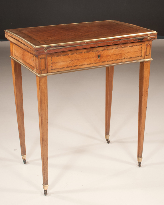 Louis XVI Style Lift Top Game Table