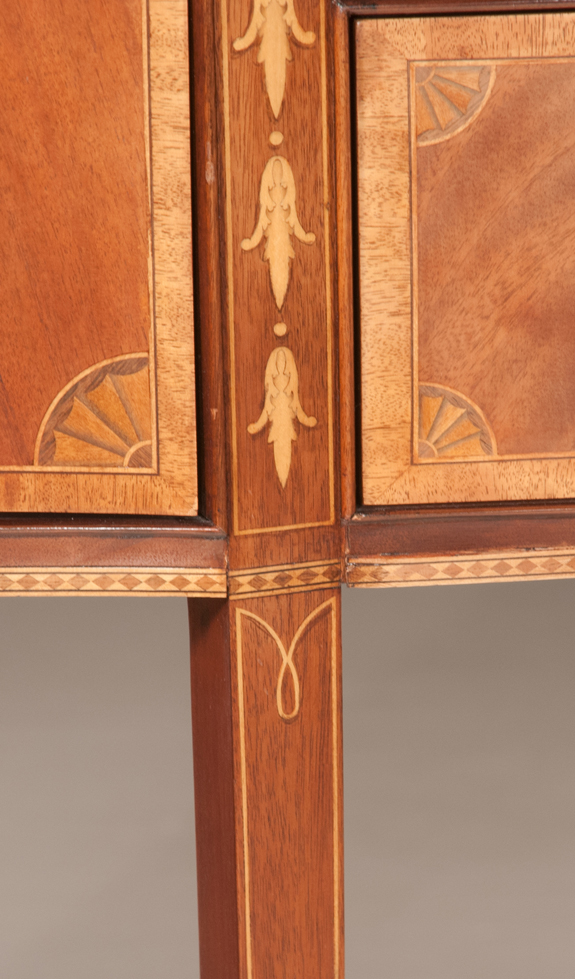 Sheraton Style Mahogany Serpentine Front Sideboard